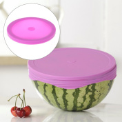 Jiamins Silicone Suction Lids Plate Cover Keep Fresh Cap Reusable Food Saver Rose Red