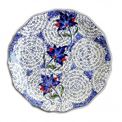 LGK & FA Pottery And Porcelain Tableware Three Lotus Flower Plate Household Plate Western Dish