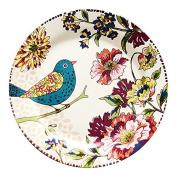 LGK & FA Under Glaze Ceramic Tableware Plate Flat Dish Western-Style Food Market Birds'Twitter And Fragrance Of Flowers