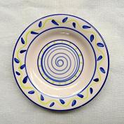 LGK & FA 15cm Hand-Painted Creative Ceramics Household Small Plate Lovely Fresh Bone Dish Breakfast Disc Dish Cake Plate J