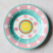 LGK & FA 15cm Hand-Painted Creative Ceramics Household Small Plate Lovely Fresh Bone Dish Breakfast Disc Dish Cake Plate G