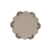 Baci Candies Melamine Cake Plate with Silicone Bows, Taupe