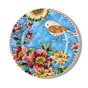 LGK & FA The Circular Plate Under Glaze Birds'Twitter And Fragrance Of Flowers Decorative Plate Plate West Tableware