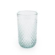Black Velvet Studio Tall glass Niza Turquoise colour Nordic style Glass 15x9x9 cm