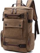 Aidonger Unisex Vintage Canvas Hiking Backpack Laptop Backpack Rucksack
