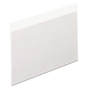 Self-Adhesive Vinyl Pockets, 3 x 5, Clear Front/White Backing, 100/Box