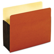Drop Front Expanding File Pocket, Top Tab, 3 1/2 Inch, Legal, Brown, 10/Box