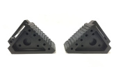 MaxxHaul 70472 Solid Rubber Heavy Duty Black Wheel Chock, 2 Pack