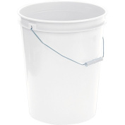 United Solutions 18.9l Plastic Utility Pail with Handle, White