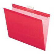 Ready-Tab Reinforced Hanging Folders, Letter, Pink, 20/Box