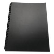 GBC 25818 100% Recycled Poly Binding Cover- 11 x 8-1/2- Black- 25/Pack