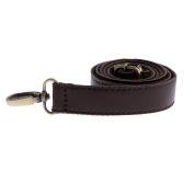 Sharplace Adjustable PU Leather + Canvas Shoulder Bag Handbag Bag Strap Handle Holder Bag Accessories Black Coffee - Coffee