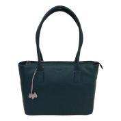 RADLEY 'Brockwell' Large Green Leather Shoulder Bag - RRP £229 - NEW