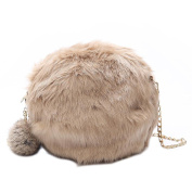 Domybest Women Mini Plush Shoulder Bags Handbags Girls Fashion Chain Round Crossbody Bags