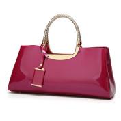 Big Red Bride Bag Wedding Bag European And American Fashion Handbags Bright Leather Shoulder Bag Ladies Paint Bag Evening Bag,Rosered-OneSize