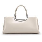 Elegant Patent Leather Ladies Bag Retro Bright Leather Handbag Wedding Bag Bridal Bag Banquet Bag Fashion Pillow Bag,Beige-OneSize