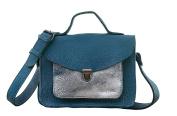 MADEMOISELLE GEORGE Pool Blue / Silver Mini Satchel vintage style PAUL MARIUS