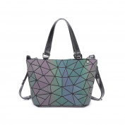 Luminous Bucket Bag Handbag Diamond Stitching Shoulder Messenger Bag Handbags