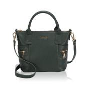 Veevan Fashion Handbags for Women Portable Small Top Handle Bags Blackish Green