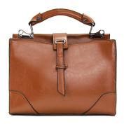 Women Leather Handbag Shoulder Purse Ladies Satchel Crossbody Messenger Tote Bag Brown