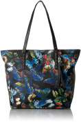 Bueno of California womens Bueno Faux Leather Printed Tote