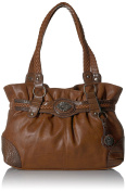 Bueno of California womens Bueno Faux Leather Mixed Media Tote