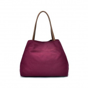 OURBAG Women's Cotton Canvas Handbags Shoulder Bags Totes Purses Red