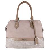 David Jones - Women top-handle bag - Bugatti handbag - Mix of nubuck paillette and saffiano imitation leather - Lady bag