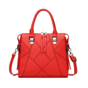 OURBAG Womens Designer Purses and Handbags Ladies Tote Bags Red