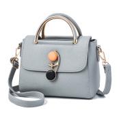 Flada Girl's Shoulder Bag PU Leather Handbags Top-Handle Bags Fashion Cross-body bag Tote Bags Grey