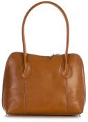 LiaTalia Genuine Italian Leather Top Handle Medium Satchel Shoulder Handbag With Protective Storage Bag - Chelsea