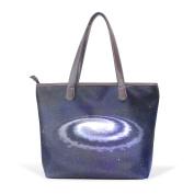 BENNIGIRY Womens Space Galaxy Shoulder Bags Leather Tote Top Handle Bags Ladies Handbag