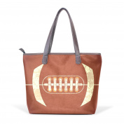 BENNIGIRY Womens American Football Shoulder Bags Leather Tote Top Handle Bags Ladies Handbag