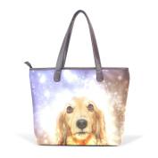 BENNIGIRY Women Large Tote Top Handle Shoulder Bags Christmas Dog Patern Ladies Handbag