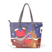 BENNIGIRY Womens Funny Chrismas Shoulder Bags Leather Tote Top Handle Bags Ladies Handbag