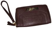Jessica Simpson Wristlet Wallet Gracie Dark Brown