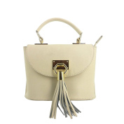Laura Moretti - Leather flap bag with tassel charm
