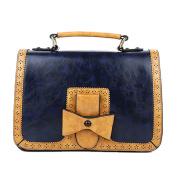 E-Bestar Vintage Purse Bag Leather Cross Body Shoulder Messenger Bag