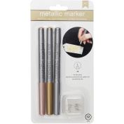 Metallic Markers Fine Point 3/Pkg-Rose Gold, Gold & Silver