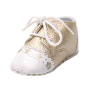 CHshe Baby Girls Polka Dot Soft Sole Floral Edge Patchwork Casual Princess Shoe
