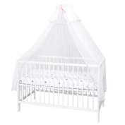 callyna® – Canopy Cot with Decorative Stand, Sailing White For Baby Bed. N & # X153; UD White