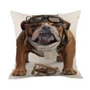 Cooljun Fashion Pillow Cases Cotton Linen Creative Bed Sofa Cushion Throw Cover Home Decor