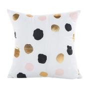 Deloito Gold Foil Printing Pure Pillow Case Sofa Waist Throw Cushion Cover Home Decor