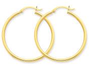 Hoop Earrings in 10K Yellow Gold 1 inch