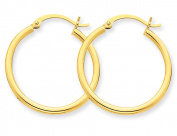 Medium Hoop Earrings in 10K Yellow Gold 3/4 inch
