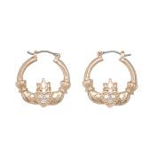 Annaleece 4213 Claddagh Hoop Earrings