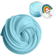 Fluffy Slime, 180ml Putty Floam Slime Sensory Play Stress Relief Toy with Storage Container ADHT ASMR No Borax with Nice Fragrance for Kids and Adults EN71 Certified