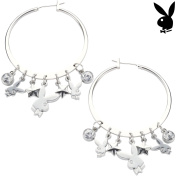 Playboy Earrings Hoops Bunny Charms Stars Crystals Dangles Authentic