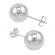 Stainless Steel 10mm Ball Earring No Ring + Post