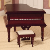 The Dolls House Emporium Classical Grand Piano & Stool (Mahogany finish) 1:12 scale